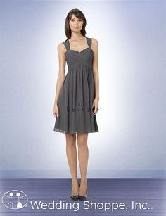 Simple chiffon dress for your bridesmaids. Bill Levkoff Bridesmaid Dress 761