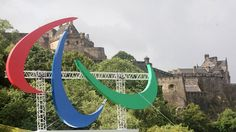A giant set of Paralympic Agitos has been launched in Edinburgh  The Agitos are the second set to be unveiled ahead of the Paralympic Games starting on 29 August.