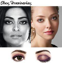 olhos proeminentes