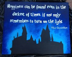 DIY Harry Potter Painted Canvas