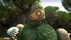 Castillo de Escritorio Fondos de Escritorio Fondos de pantalla Laputa estudio Ghibli robot de la naturaleza del paisaje del arte digital.