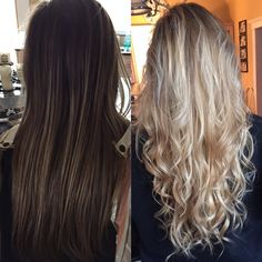 Nice 41 Awesome Blonde Balayage Hairstyle Ideas For Summer Sparkle. Blonde Hair From Brown, Dark Brown To Blonde Balayage, Blonde Hair Transformations, Balayage Hairstyle, Blonde Hairstyles, Dying Your Hair, Hair Painting, Hair Dos, Hairstyle Ideas