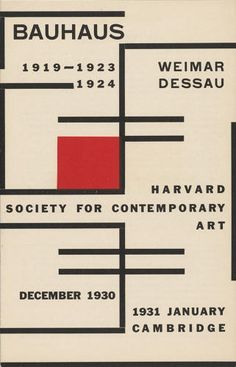 <p>Catalogue of the 1930 Bauhaus exhibition, Harvard Society for…