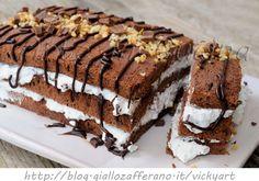 Semifreddo veloce panna e cioccolato torta facile, ricetta dolce veloce, pasta biscotto al cacao, torta dopo pranzo, feste, buffet, dolce per ospiti all'improvviso