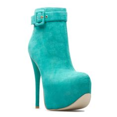 What an amazing colour. Love this ankle boot with a silver cashmere dress