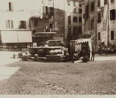 Piazza Giudia ghetto ebraico 1900 Old Photos, Rome, Street View, Italy, Memories, History, Angelo, Pictures, Painting
