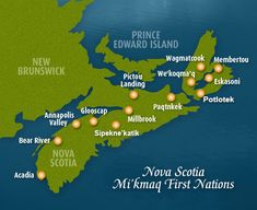 Map of First Nations in Nova Scotia | Government of Nova Scotia