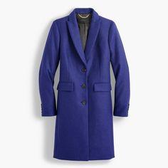parke topcoat : women wool