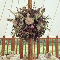 Bridal flowers, church blooms, hundreds of vases and two hanging flower balls. What a beautiful wedding at Hodsock Priory today. Nottinghamshire, you've been glorious.