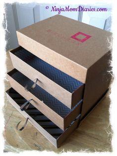 DIY – Birchbox Makeup Box I knew it was a good idea to save all my Birchbox boxes...