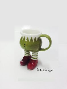 Elf Espresso Cup  Collectable Pottery  Italian by WalkingPottery