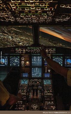 What it's like having the pilot's view at night