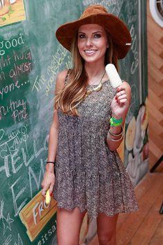 Coachella Style: Audrina Patridge in For Love & Lemons Lover Boy Dress