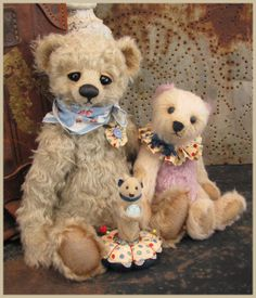 L-R: Bastian, Egg Mouse, & No. 6 (a Potbelly Bears Old Timer). Available now at potbellybears.com.