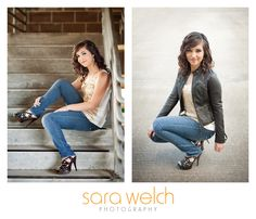 Like these poses, especially on the left. {Sara Welch Photography}  #Senior #Portrait