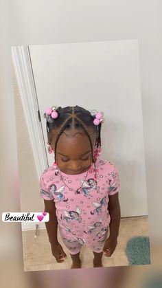 Little Girls Ponytail Hairstyles, Little Girl Ponytails, Little Girls Natural Hairstyles, Toddler Braided Hairstyles, Mixed Girl Hairstyles, Black Kids Hairstyles, Cute Hairstyles For Toddlers, Young Girls Hairstyles, Little Girl Braid Styles