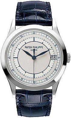 c14c874fb90d Patek Philippe Calatrava Automatic Silver Dial 18kt White Gold Men s Watch  5296G-001 Dream Watches