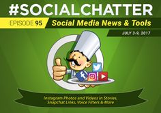 Social Chatter 95 - Thrilled to be hosted by Social Chefs​ talking about latest social media updates with Christian Karasiewicz​ & Jessika Phillips​  👉🏼  Watch or listen for tips on Instagram, Snapchat & image editing tools!! 😃   👩🏼‍💻💡👨🏽‍🍳📱⭐️💼📰