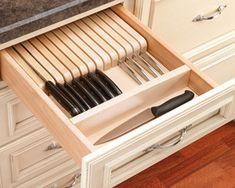 q favorite knife storage, kitchen design, storage ideas, drawer insert by Revashelf
