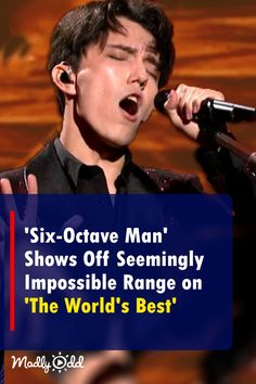'Six-Octave Man' Shows Off Seemingly Impossible Range on 'The World's Best' Music Sing, Music Tv, Live Music, Good Music, Vocal Lessons, Wow Video, Amazing Songs, Types Of Music, Watches For Men