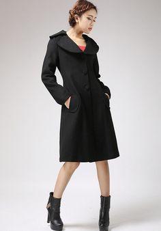 Black jacket winter cashmere coat (712) from xiaolizi fashion by DaWanda.com