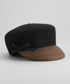 Take a look at this Black Chika Cap by Grace Hats on #zulily today! $15.99
