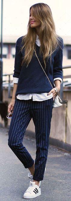 ed03deb6e5 Sweater  MKAO for Bik Bok    Shirt  Asos    Pants  Bik Bok    Bag  Steve  Madden    Shoes  Adidas The Best of street fashion in – New York Fashion  New Trends