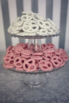 These are great sweet snacks for the sweets table, would customize and and make the colours fit my theme. Plus really affordable to make on your own!