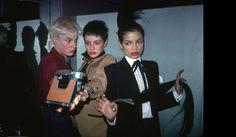 Old school selfies 1980s New York club scene | Edwige Belmore, Maripol and Bianca Jagger at Studio 54. Photo: Edo Bertoglio