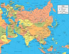 Detailed Map Of Asia.7 Best Maps Images In 2016 Map Asia Map Asia