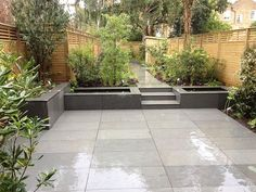 Patio landscaping designs basalt paving for a modern look by garden designer josh backyard patio designs for small yards Vegetable Garden Design, Backyard Garden Design, Small Garden Design, Patio Design, Backyard Patio, Backyard Landscaping, Modern Backyard, Patio Table, Surf