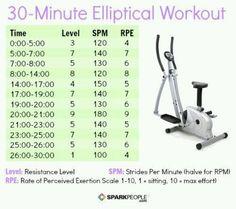 Elliptical workout.