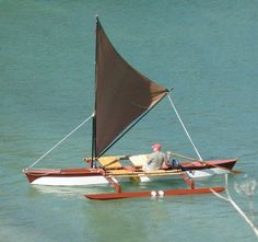 Perfect Outrigger Canoe- next boatbuilding project?