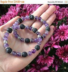 HOLIDAY SALE siSTARS Amethyst Lava Stone Essential Oil Diffuser Bracelet