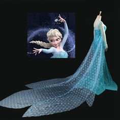 Frozen Elsa Cape By Yard Organza Fabric Material by Frozensisters, $8.99