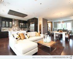 Charming Modern Open Living Room Ideas