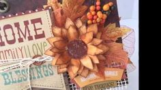 Fall Mini Album with Heartfelt Creations and Spellbinders