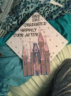 My graduation cap #disney #graduation #grad #cap #disneydecorations #castle