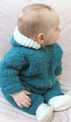Superbulky Baby One Piece Suit or Jacket