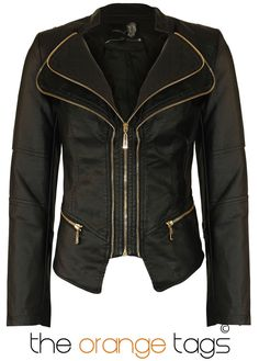 NEW LADIES DOUBLE ZIP PVC FAUX LEATHER BOMBER BIKER JACKET WOMENS COAT in Clothes, Shoes & Accessories, Women's Clothing, Coats & Jackets   eBay