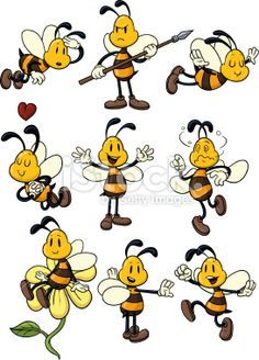 Cartoon bee Royalty Free Stock Vector Art Illustration