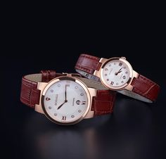 """""""Love world-time"""" His & Hers watches, the perfect Valentine's Day gift!"""