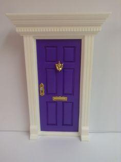 Purple Fairy Door by FairyAvenue on Etsy https://www.etsy.com/listing/193406286/purple-fairy-door