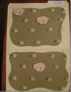 Pigs in a Mud Puddle Alphabet Matching Game