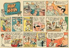 """""""Half Hitch,"""" a Navy-themed comic strip drawn by former WWII Sailor and """"Dennis the Menace"""" creator, Hank Ketcham..."""