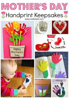 Easy Mother's Day Crafts for Kids to Make - these handprint crafts make wonderful Preschool Crafts for Mother's Day. Create wonderful Mother's Day Gifts with Toddlers and prescholers to keep forever! How quickly they grow. Easy Mother's Day Crafts, Mothers Day Crafts For Kids, Mothers Day Cards, Crafts For Kids To Make, Valentine Day Crafts, Children Crafts, Art Children, Simple Crafts, Kid Crafts