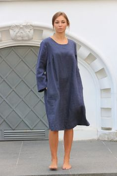 Linen tunic top. Linen clothing / Flax tunic / by LinenCloud