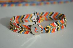 Bracelet Brésilien avec strass  blog :la chouette Bricole