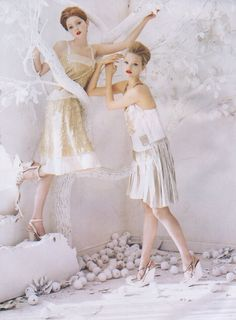Lily Cole and Gemma Ward by Tim Walker
