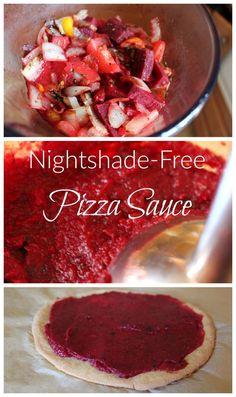 Food sensitivities? Following a grain-free diet? Try this nightshade-free marinara sauce with grain-free sourdough pizza crust! #paleo #GAPS